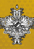 Your Kingdom ( Background ). Coat Of Arms On The Gold Background Royalty Free Stock Image