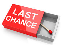 Your last chance. 3d generated picture of a last chance concept Stock Image