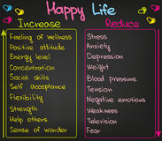 Your life increase and decrease royalty free illustration