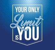 Your only limit is you typography seal stamp, illustration design. Isolated over blue background royalty free illustration