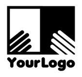 Your logo. Illustration of publication logo on white background Stock Photo
