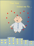Your love makes me fly Royalty Free Stock Photography