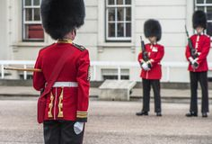 Your Majesty royal guards in Whitehall yard Royalty Free Stock Photo