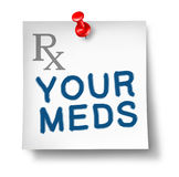 Your meds reminder isolated Stock Photo