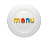Your menu on the plate Stock Photography