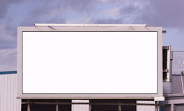 Your Message Here Blank City Billboard Sign Advertising Space Stock Photo