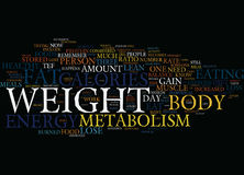 Your Metabolism And Fat Loss Text Background  Word Cloud Concept Stock Photos