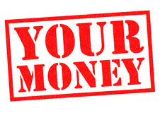 YOUR MONEY. Red Rubber stamp over a white background Royalty Free Stock Photos