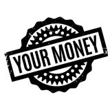 Your Money rubber stamp. Grunge design with dust scratches. Effects can be easily removed for a clean, crisp look. Color is easily changed Stock Photography