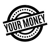 Your Money rubber stamp. Grunge design with dust scratches. Effects can be easily removed for a clean, crisp look. Color is easily changed Stock Photos