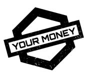 Your Money rubber stamp. Grunge design with dust scratches. Effects can be easily removed for a clean, crisp look. Color is easily changed Royalty Free Stock Image