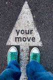 Your move sign Royalty Free Stock Photos