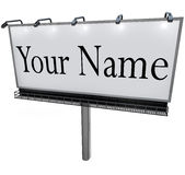 Your Name on Billboard Advertising Marketing Sign Royalty Free Stock Image