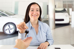 Your new car is here Stock Photo