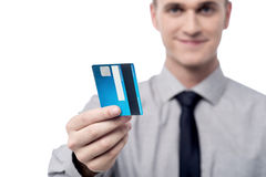 Your new credit card sir. Stock Photo