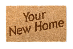 Your New Home Welcome Mat On White Royalty Free Stock Photos