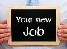 Your new job blackboard stock photos