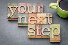 Your next step word abstract Royalty Free Stock Photo
