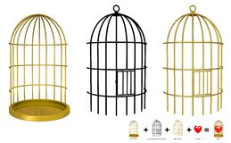 Your object in the cage. Put your object in the cage with only 4 step in e.q. Photoshop or Gimp. Content of image contain 3 Royalty Free Stock Photos
