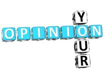 Your Opinion Crossword Royalty Free Stock Image
