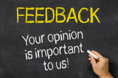 Your opinion is important to us Royalty Free Stock Photos