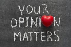 Your opinion Stock Photos