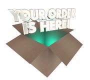 Your Order is Here Box Package Arrived. 3d Illustration Stock Images