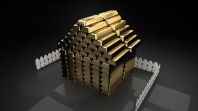 Your own house is your treasure, well deserved trophy, big financial achievement royalty free illustration