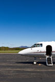 Your own private jet. Private jet ready for passengers at small, rural airfield Royalty Free Stock Image
