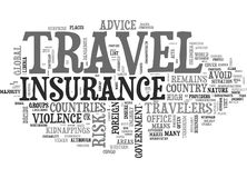 At Your Own Risk Countries Where Travel Insurance Won T Be Able To Help You Word Cloud Stock Photo
