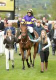 Horse Racing. Are they your own 1st cheltenham races 5-5-17 Stock Image