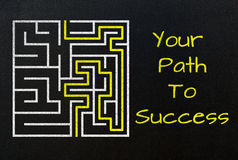 Your path to success concept Stock Photo