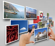 Your photo album in net Royalty Free Stock Image