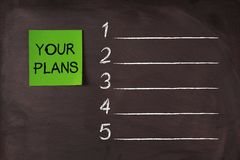 Your Plans List Stock Photo