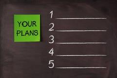 Your Plans List Stock Photo
