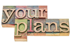 Your plans word abstract Royalty Free Stock Image