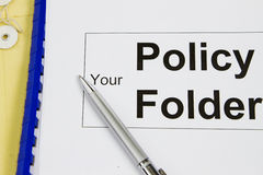 Your policy folder Royalty Free Stock Image