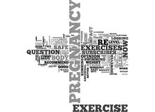 Is Your Pregnancy Exercise Safe For Baby Word Cloud Concept. Is Your Pregnancy Exercise Safe For Baby Text Background Word Cloud Concept Vector Illustration