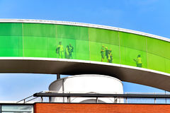 `Your rainbow panorama` on the roof of the ARoS Aarhus Art Museum Royalty Free Stock Photo