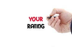 Your rating text concept Stock Image