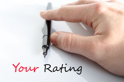 Your rating text concept Royalty Free Stock Image