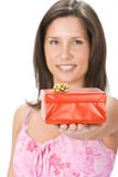 Your red gift box Stock Photos