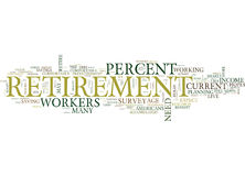Your Retirement Hopes Filled With Holes Text Background Word Cloud Concept Stock Image