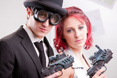 We are your right commando couple Stock Photos