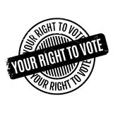 Your Right To Vote rubber stamp Royalty Free Stock Photo
