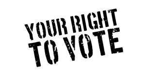 Your right to vote rubber stamp Stock Photo