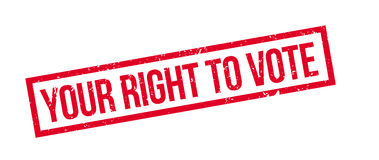 Your right to vote rubber stamp Stock Image