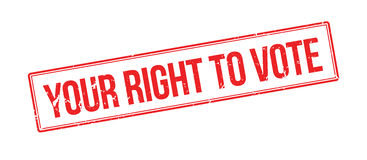 Your right to vote rubber stamp Stock Photography