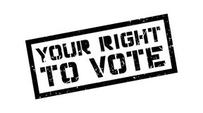 Your right to vote rubber stamp Royalty Free Stock Image