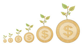 Your savings with recycled paper stick Stock Image